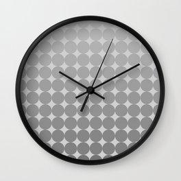 White Circles Wall Clock