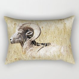 Rocky Mountain Bighorn Rectangular Pillow