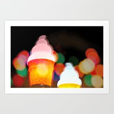 All the pretty lights - V Art Print