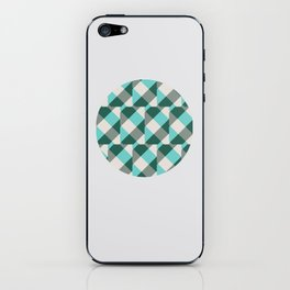 Teal Stripes in a Circle iPhone Skin