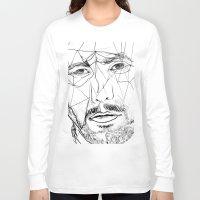 men Long Sleeve T-shirts featuring Men by Mary Szulc