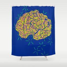 Floral Brain Shower Curtain