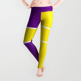Team Colors 6....Yellow,purple Leggings