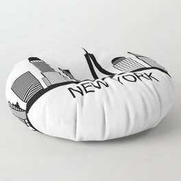 new york skyline Floor Pillow