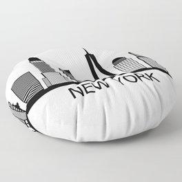 new york skyline Floor Pillow