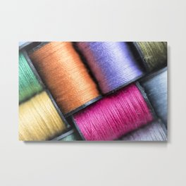 Sew Many Colors Metal Print