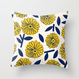 Floral_blossom Throw Pillow