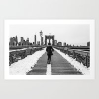 Brooklyn Bridge, NY Art Print