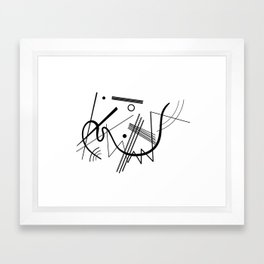 Kandindky - Black and White Abstract Art Framed Art Print