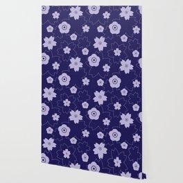 Sakura blossom - midnight blue Wallpaper