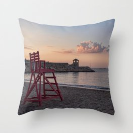 Front Beach After Hours Throw Pillow