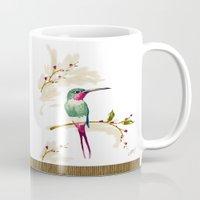 hummingbird Mugs featuring hummingbird by Ariadne