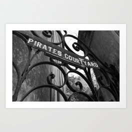 Pirates Courtyard Art Print