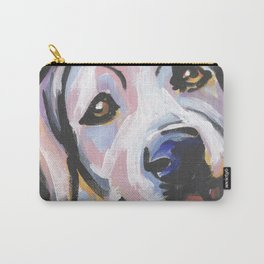 Yellow Lab Labrador Retriever Dog Portrait Pop Art painting by Lea Carry-All Pouch