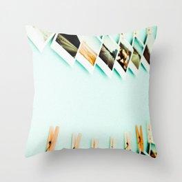 Polaroids Throw Pillow