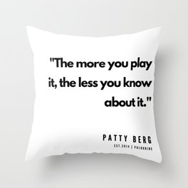 33     | Golf Quotes | 190606 Throw Pillow