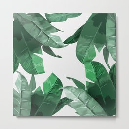 Tropical Palm Print Metal Print