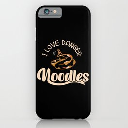 I love Danger Noodles - Snakes iPhone Case