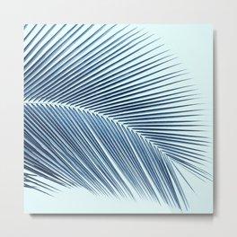 Palm leaf - oceanic Metal Print