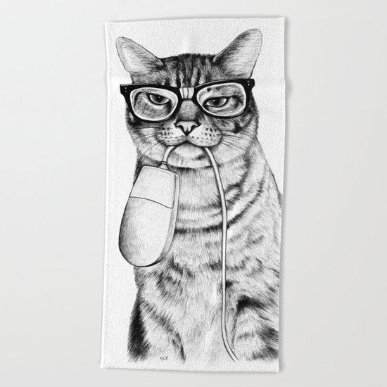 Mac Cat Beach Towel