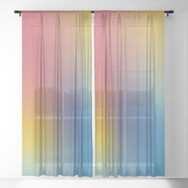 Abstract Gradient No. 11 Sheer Curtain