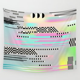 Glitch art effect Wall Tapestry