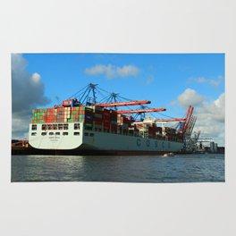 Cosco Cotainer Ship Rug