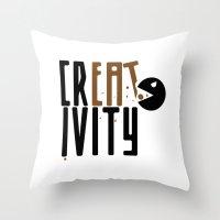 creativity Throw Pillows featuring creativity by Andrea Bettin ART