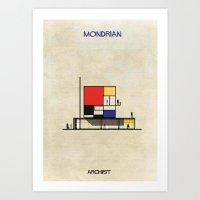 mondrian Art Prints featuring Mondrian by federico babina