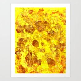 Gold Smudges Art Print