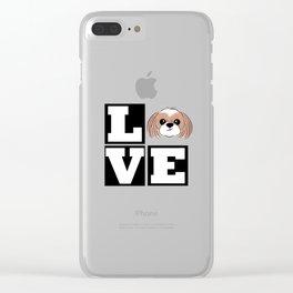 Love - Shih Tzu Puppy Clear iPhone Case