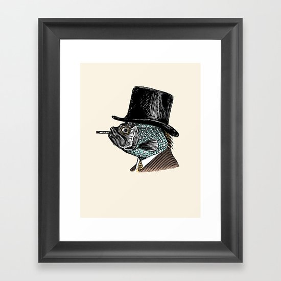 Mr. Fish Framed Art Print