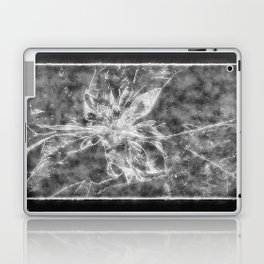 Pale Yellow Poinsettia 1 Outlined Black Laptop & iPad Skin
