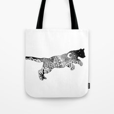 Jungle Panther, Cat, Moon and Stars Tote Bag
