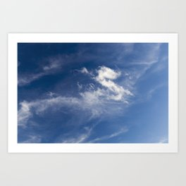 Clouds White Art Print