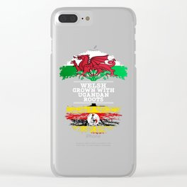 Welsh Grown With Ugandan Roots Clear iPhone Case