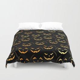 Scary jack-o-lantern Duvet Cover