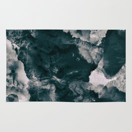 Hard blue and grey marble Rug