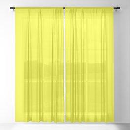 Bright Fluorescent Yellow Neon Sheer Curtain