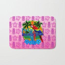 Pink Tiki Island Time Sunset Bath Mat