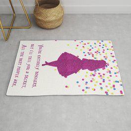 Pink glitter and confetti bonkers Rug