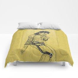KingOfPop. (gold) Comforters