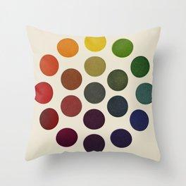 'Parsons' Spectrum Color Chart' 1912, Remake 2 (enhanced) Throw Pillow