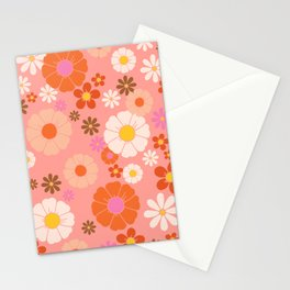 Groovy 60's Mod Flower Power Stationery Cards