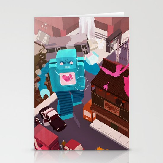 Dance, Lovebot! Dance! Stationery Cards