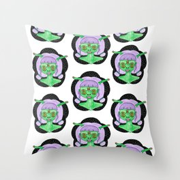 Green Baby Throw Pillow