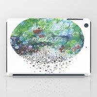 hakuna iPad Cases featuring Hakuna Matata by Maria Sh