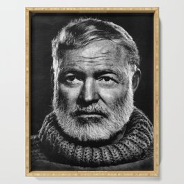 Earnest Ernest Hemingway Serving Tray