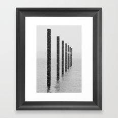 Pilings II Framed Art Print