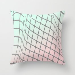 Grid and Gradient 2 Throw Pillow